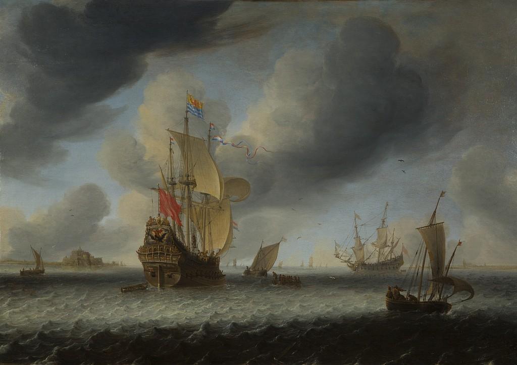 """Jan Abrahamsz van Beerstraten, """"Na redzie"""", XVII w."""