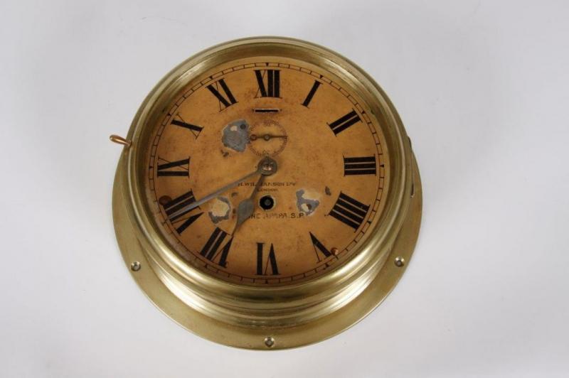 Zegar okrętowy niekompletny sygn. H. Williamson Ltd. London