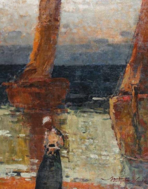 """""""Bretonka nad morzem"""" W. Wankie"""