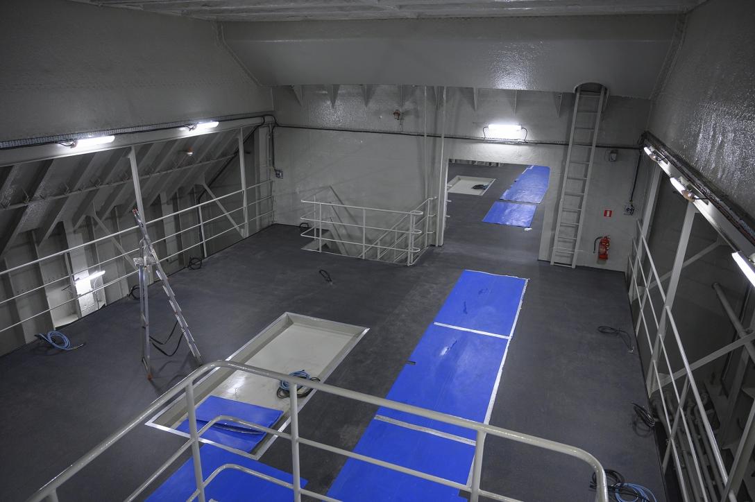 Wnętrze wyremontowanej ładowni - widok z góry