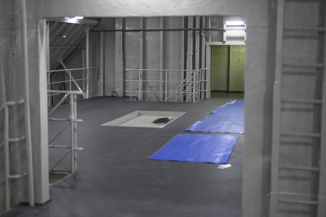 Wnętrze wyremontowanej ładowni