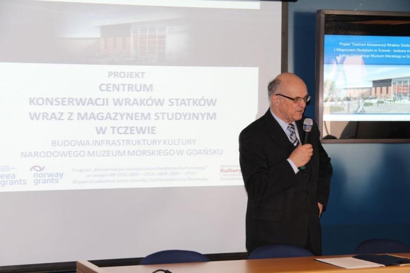 Dyrektor Narodowego Muzeum Morskiego, dr inż. Jerzy Litwin