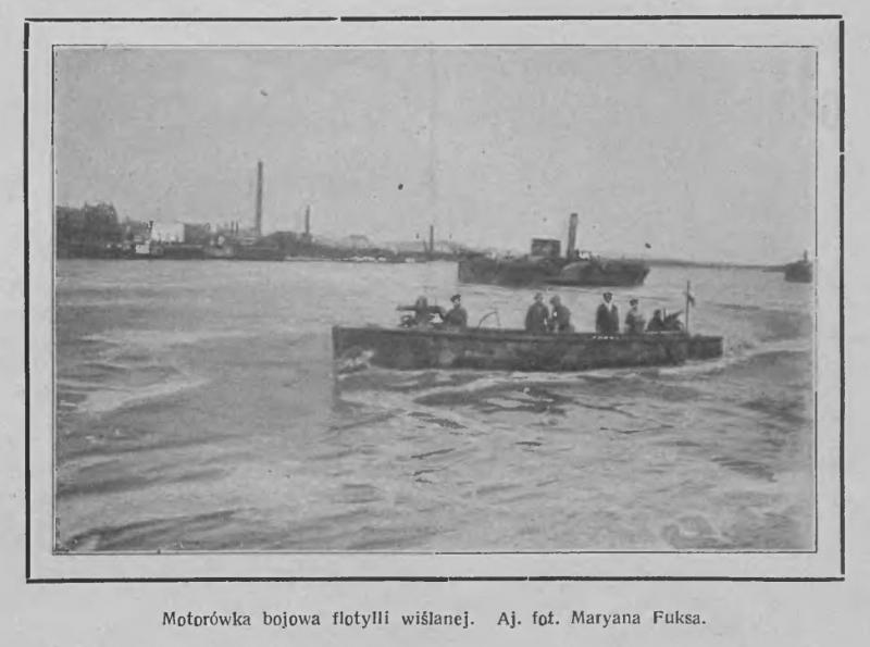 """Motorówka uzbrojona """"15""""  Tygodnik Ilustrowany, nr 38, 18 września 1920 r."""