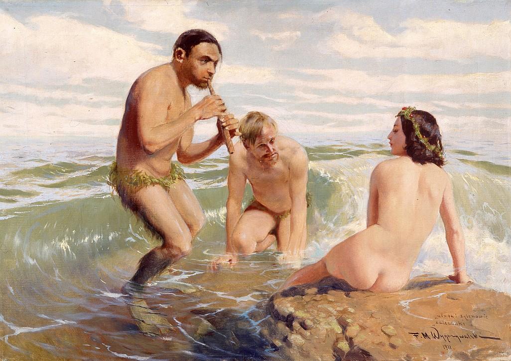 """Feliks Michał Wygrzywalski (1875–1944), """"Zalecanki (Nimfa i sylenowie)"""", 1911"""