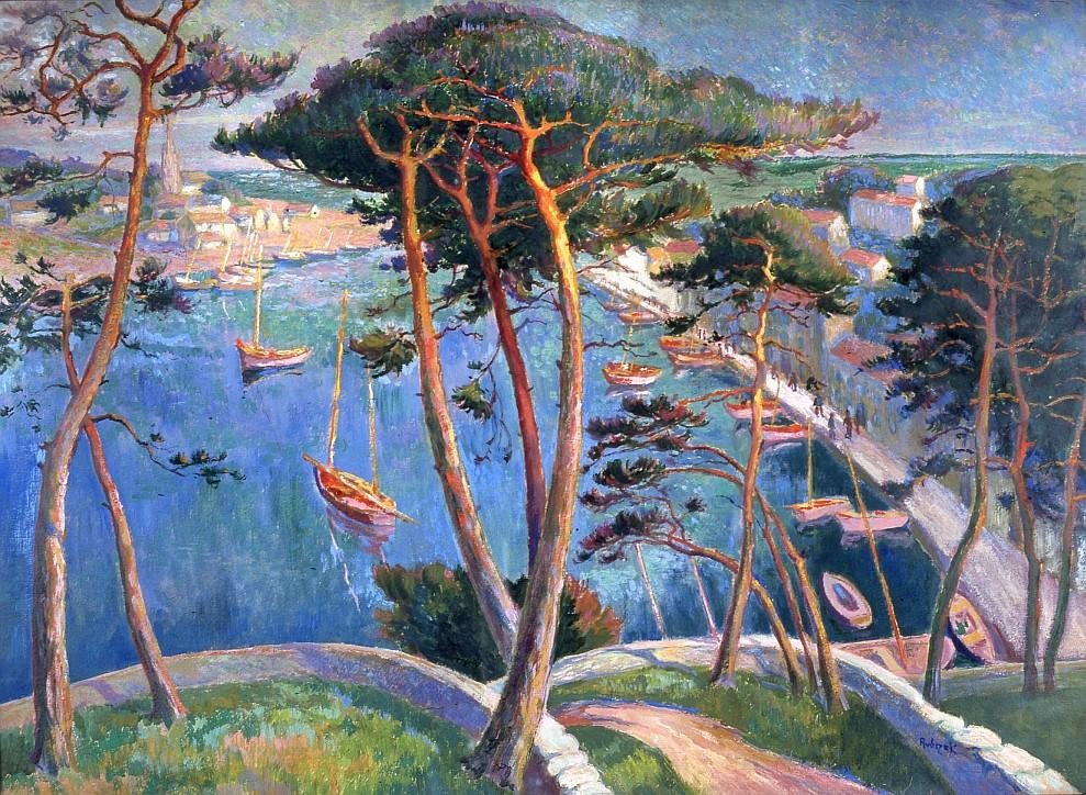 """Jacek Malczewski (1854-1929), """"Eine Dame mit Meer im Hintergrund"""""""