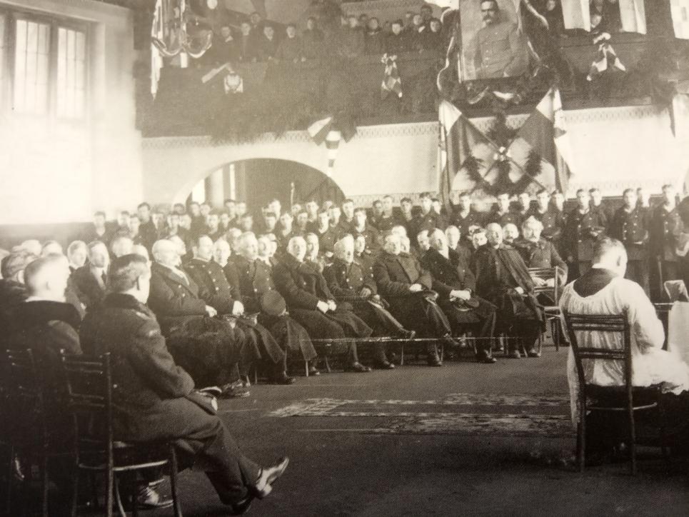 Msza św. w auli uczelni. Tczew, 8 grudnia 1920 r.
