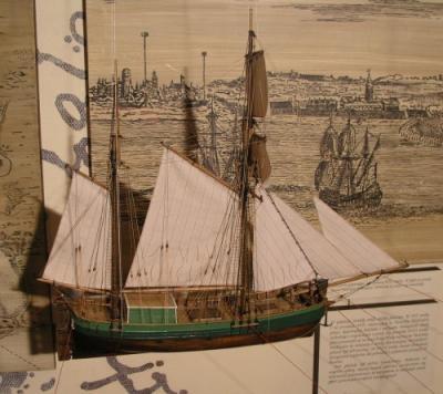 Model statku typu Kuff