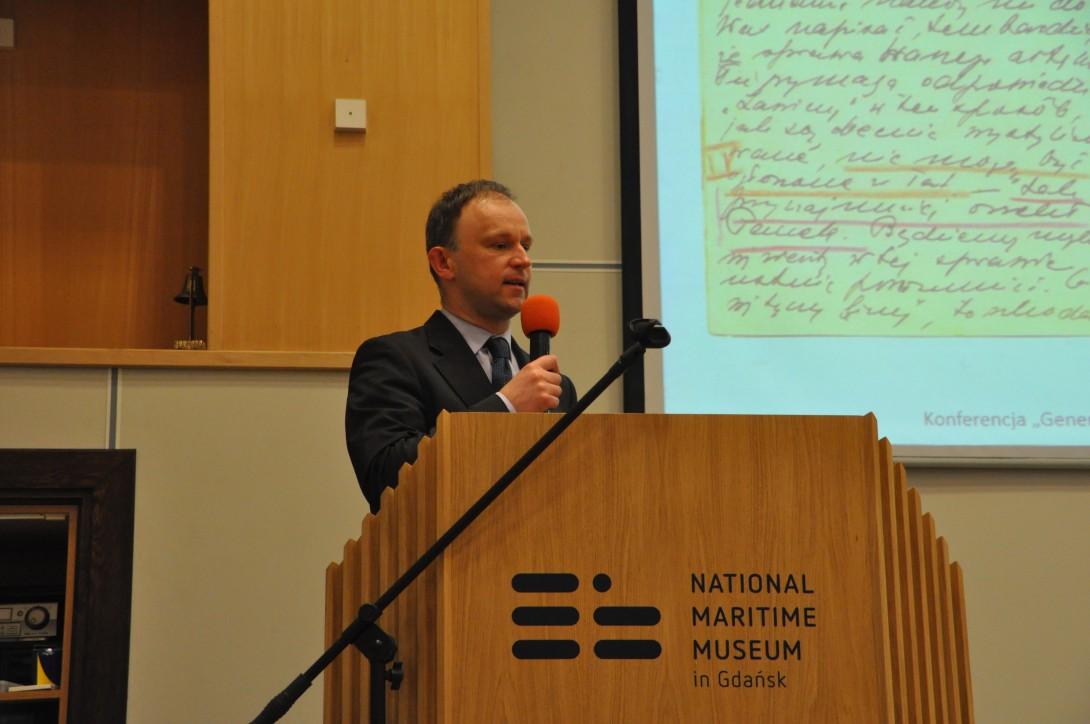 Radosław Paternoga z Narodowego Muzeum Morskiego w Gdańsku