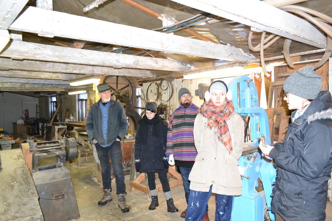 Wizyta  pracowników NMM w The Old Slipway - małej dawnej stoczni zakupionej przez miasto Siglufjordur przekazana Muzeum Śledzia w 2011 roku.