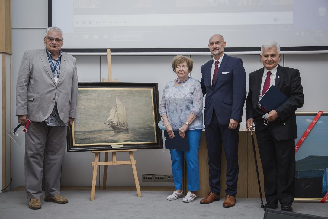 Dyrektor NMM i członkowie Towarzystwa Przyjaciół Narodowego Muzeum Morskiego