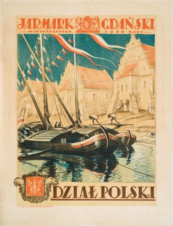 Jarmark Gdański, Edmund Bartłomiejczyk (1885–1950) – proj., Zakład Litografia Artystyczna W. Główczewskiego – druk, Warszawa, 1920