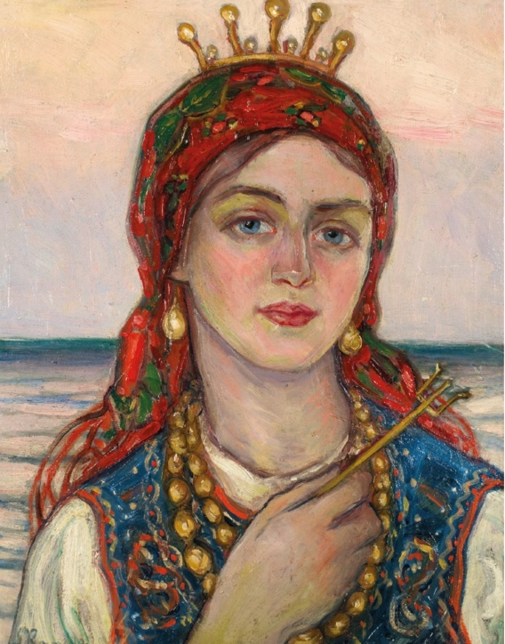 Leon Kowalski (1870–1937), Królowa morza polskiego – część środkowa tryptyku: Polskie morze, 1925, Kraków
