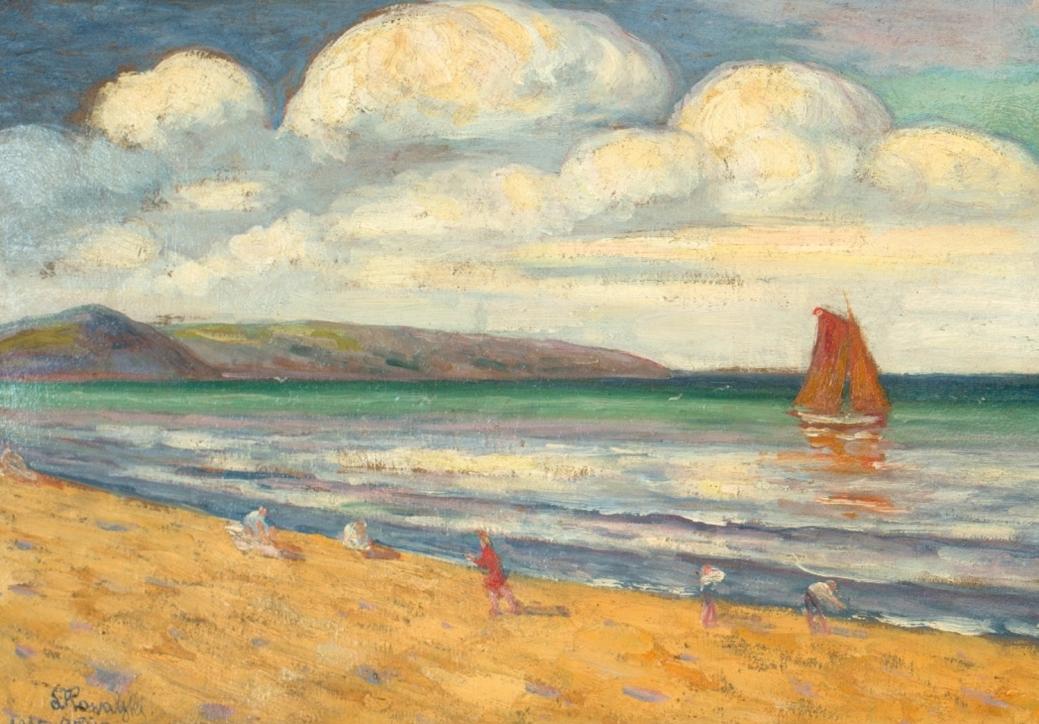 Leon Kowalski (1870–1937), Orłowo – część lewa tryptyku: Polskie morze, 1925, Kraków
