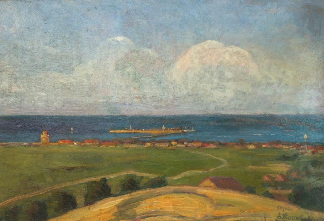 Leon Kowalski (1870–1937), Gdynia – część prawa tryptyku: Polskie morze, 1925, Kraków