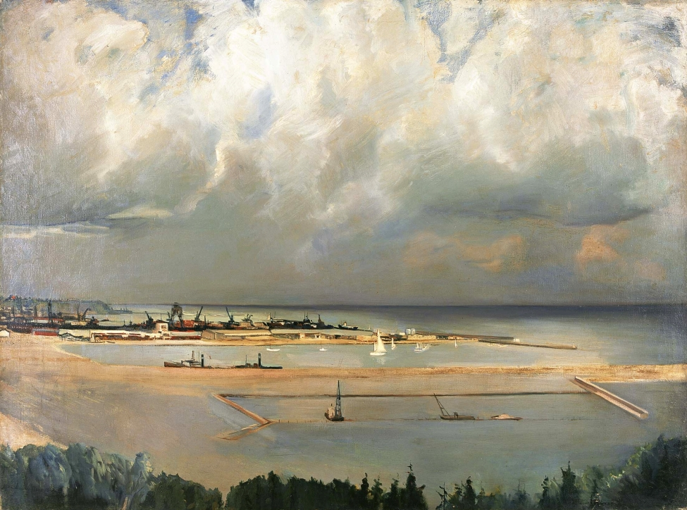 Michalina Krzyżanowska (1883–1962), Widok portu w Gdyni, 1935