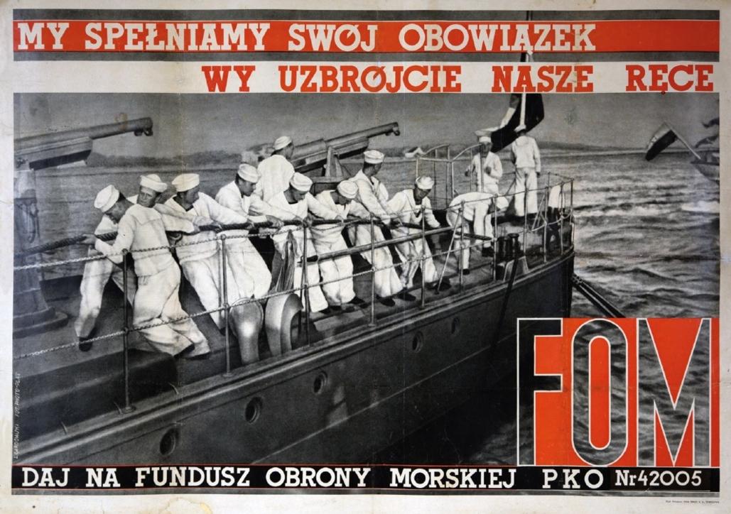 Ludwik Gardowski (1890–1965), Plakat: Daj na FOM, 1937–1939