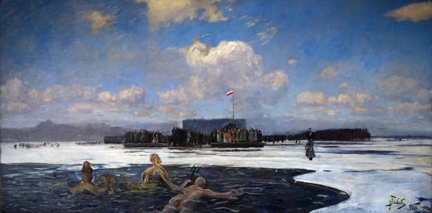 """Julian Fałat (1853-1929), """"Zaślubiny Polski z morzem"""", 1920"""