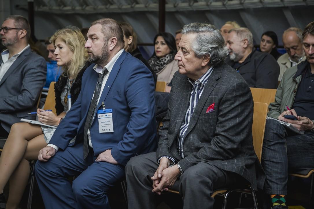 A. Budanov – wicedyrektor ds. rozwoju Muzeum Oceanu Światowego w Kaliningradzie, P. Soyka – prezes Remontowa Holding