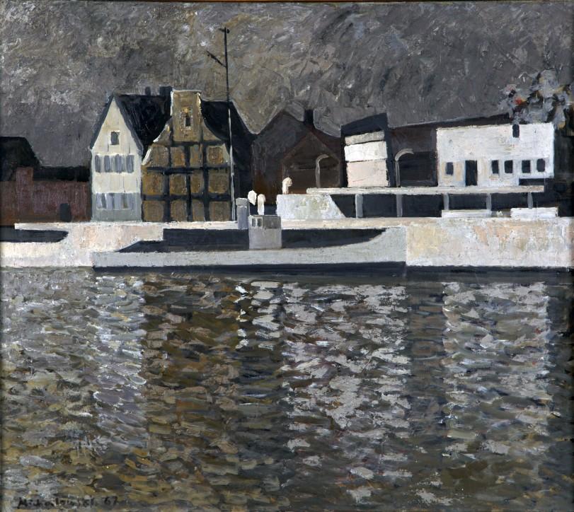 Stanisław Michałowski (1915-1980), Motława, 1967, Narodowe Muzeum Morskie w Gdańsku