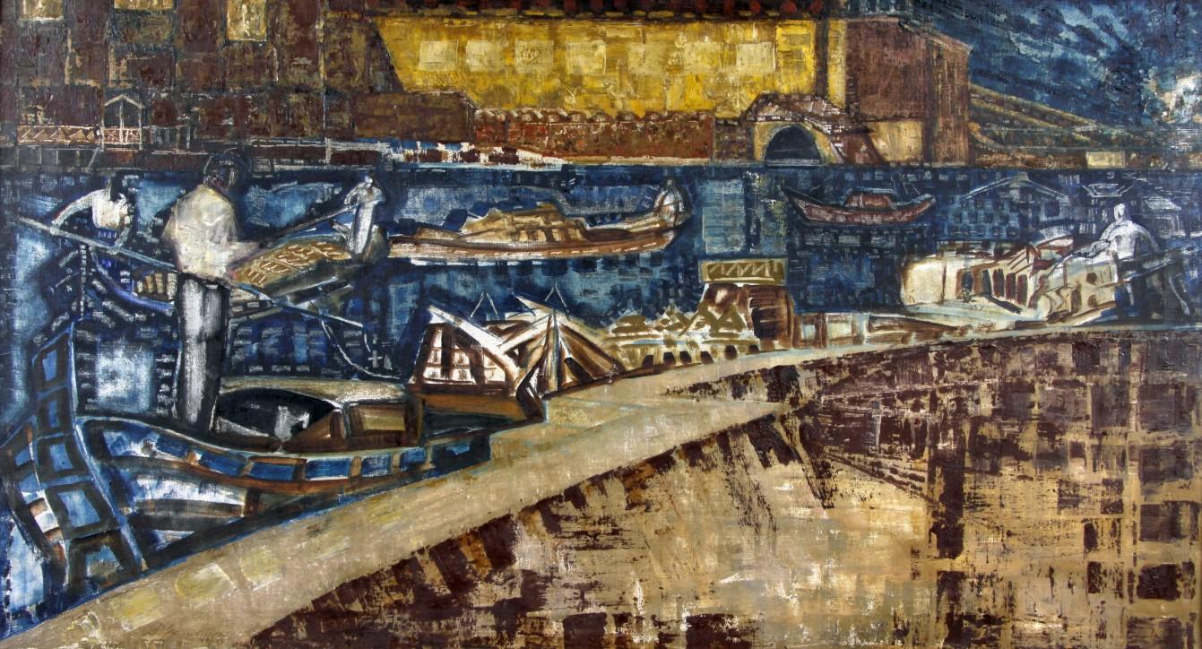 Kazimierz Śramkiewicz (1914-1998), Wenecja II/3, 1959, Narodowe Muzeum Morskie w Gdańsku