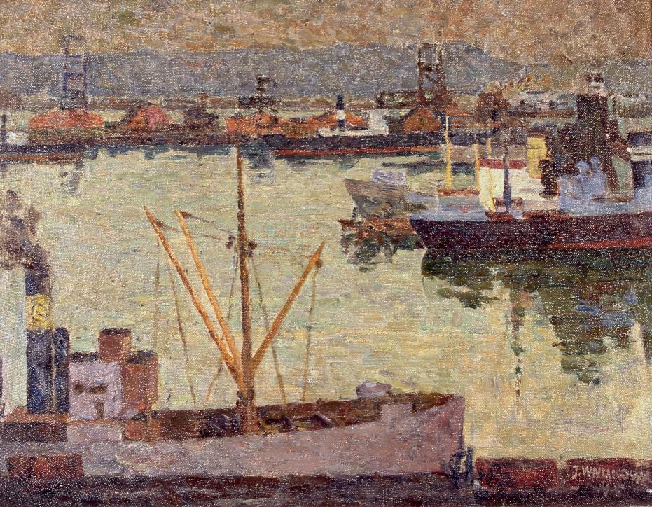 Józefa Wnukowa (1911-2000), Port gdyński, 1946, Narodowe Muzeum Morskie w Gdańsku