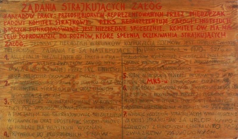 """""""Tablice z 21 postulatami"""", fot. B.Galus"""