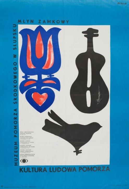 Plakat Muzeum Pomorza Środkowego w Słupsku, Zbigniew Leon Kaja (1924-1983), Polska, 1968, ze zbiorów Narodowego Muzeum Morskiego w Gdańsku, fot. B. Galus