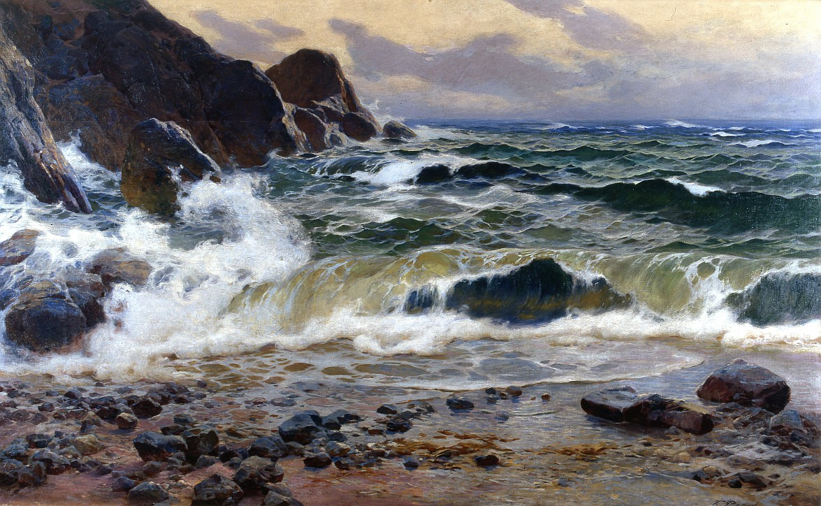 """Tadeusz Popiel (1863–1913), """"Brzeg morski w Sorrento"""", 1904"""