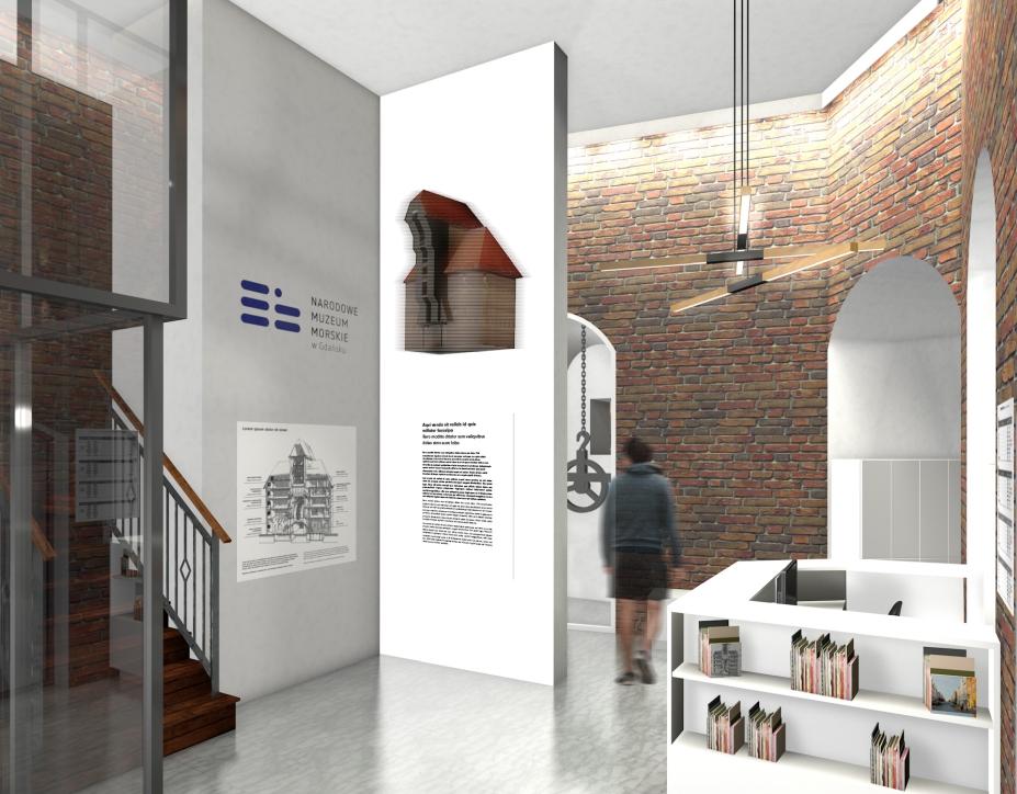 Wizualizacja nowego holu w Żurawiu