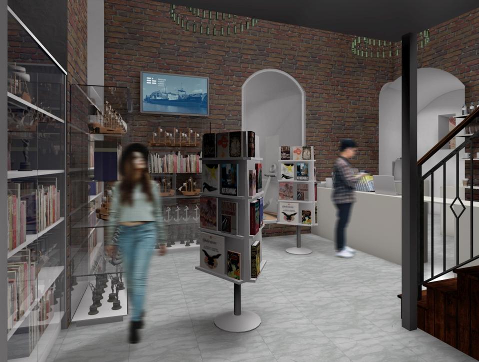 Wizualizacja nowego sklepiku w Żurawiu