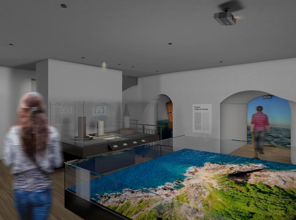 Wizualizacja nowej wystawy w Żurawiu - makiety