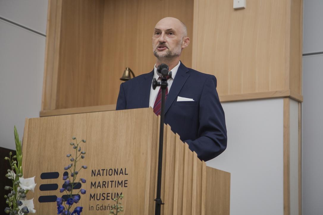 Dyrektor NMM, dr Robert Domżał, podczas przemówienia z okazji obchodów 60-lecia Muzeum