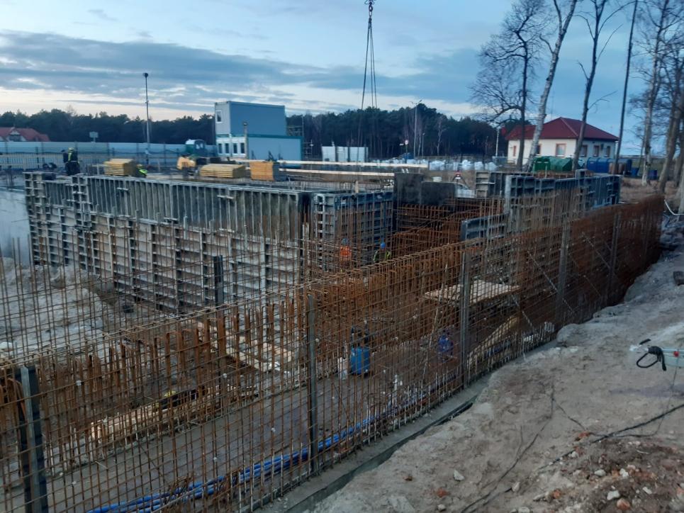 Plac budowy Muzeum Archeologii Podwodnej i Rybołówstwa Bałtyckiego w Łebie