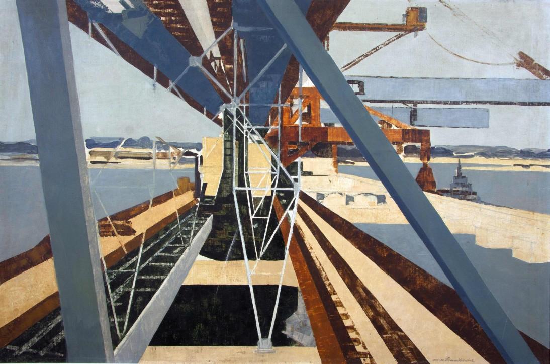"""Kazimierz Śramkiewicz (1914-1998), """"Port Północny XXI"""", 1975"""
