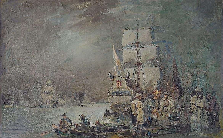 """Marian Mokwa (1889-1987), """"Pod Gdańskiem. Z czasów Zygmunta III 1626"""", II poł. XX w."""