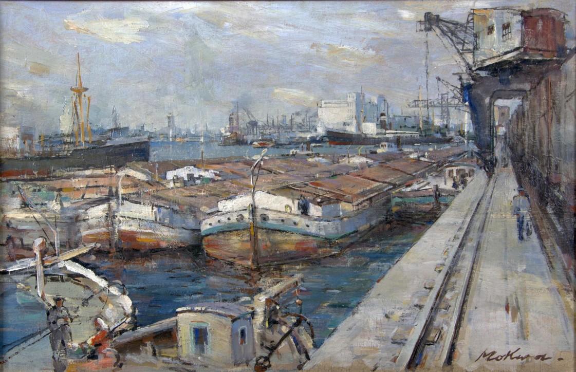 """Marian Mokwa (1889-1987), """"Port"""", I poł. XX w."""