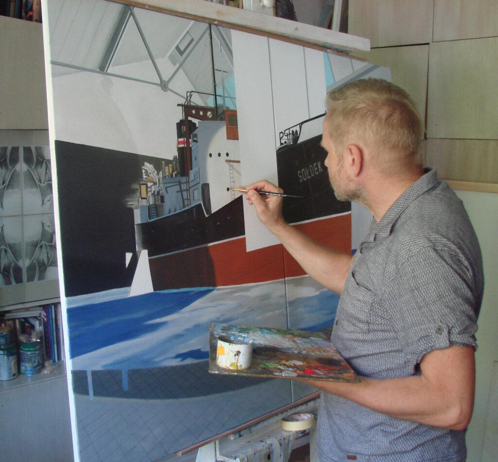 Piotr Tymochowicz w pracowni